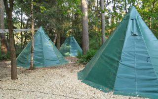 Tipis im Schaalsee-Camp