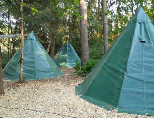 Neue Tipis im Schaalsee-Camp