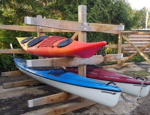 Lagerplätze für Kanus und Kajaks